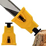 Bar Chainsaw Teeth Sharpener Portable Proprietary Bar Mount Chainsaw Chain Sharpening Kit Fast Sharpening Stone Grinder Tools (FIT WITH 2 HOLES BAR CHAINSAW)