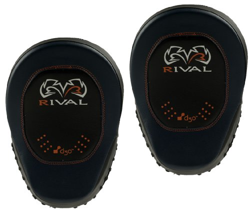 Rival Boxing d30 Intelli-Shock Pro Punch Mitts - Black/Blue by Rival Boxing