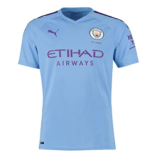 PUMA 2019-2020 Manchester City Home Authentic Football Soccer T-Shirt -