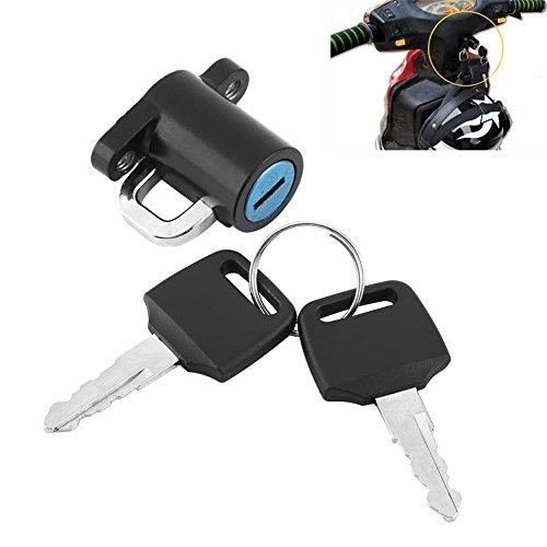 Daphot-Store - Universal Motorcycle Motorbike Bike Helmet Lock Hanging Hook with 2 Keys Set