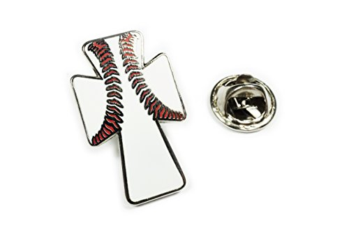 Baseball Christian Cross Jesus Christ Jacket Vest Hat Tie Tack Lapel Pin ()
