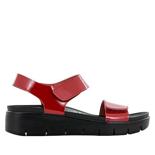 Price comparison product image Alegria Womens Playa Sandal Red Patent Size 39 EU (9-9.5 M US Women)