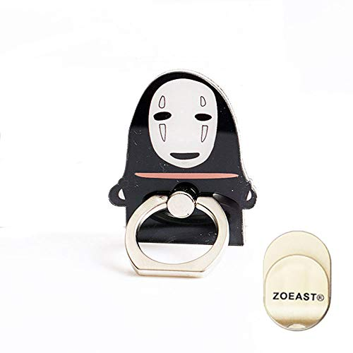 ZOEAST(TM) Phone Ring Stand Make Faces BOH Sen Spirited Away Universal 360° Adjustable Holder Car Hook Grip Stent Mount Kickstand Compatible All iPhones Samsung Android Pad Tablet (No Face Man)