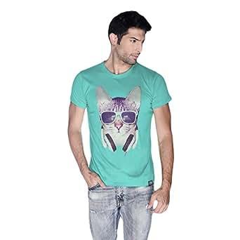 Cero Cool Cat Retro T-Shirt For Men - L, Green