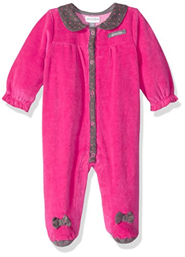 ABSORBA Girls' Velour Footie, Assorted, 0/3