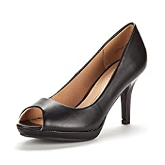 Feel comfortable and look stylish in any occasion with these adorable open toe platform heel! Featuring faux leather, open toe, stitching details, low platform, and low heel heel, finished with lightly padded insole for a perfect fit to your ...