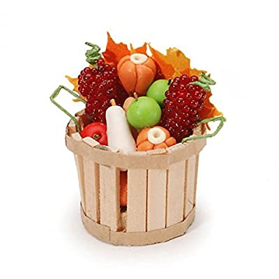 Darice, Miniature Fall Basket with Fruit & Vegetables: Arts, Crafts & Sewing