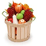 Darice, Miniature Fall Basket with Fruit & Vegetables, Multicolor
