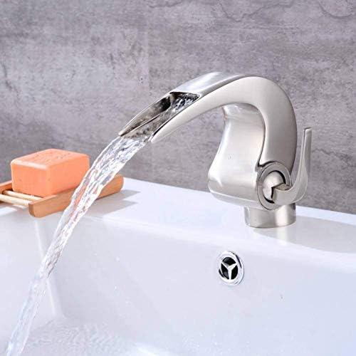 BXU-BG キッチンブラシ蛇口新デザイン滝の蛇口革新的な浴室の蛇口つや消しニッケル黄銅盆地タップ