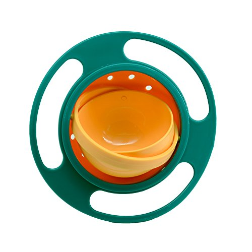 41y3LxjVNJL - Ztl Baby Gyro Bowl 360 Dgree Rotation Spill Resistant Gyroscopic Bowl with Lid Toy Tableware for Kids Toddlers