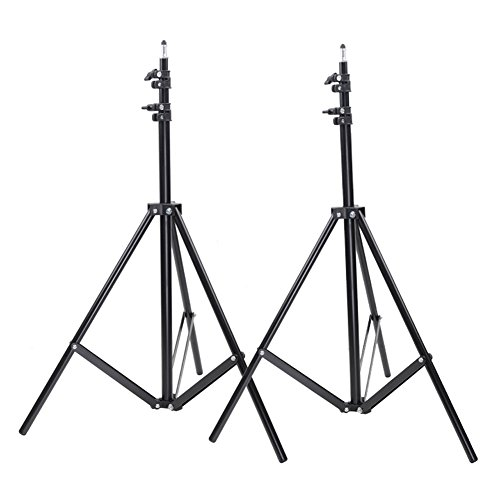 Neewer 2 Packs 9 feet/260 centimeters Photo Studio Light Stands for HTC Vive VR, Video, Portrait, and Product Photography by Neewer