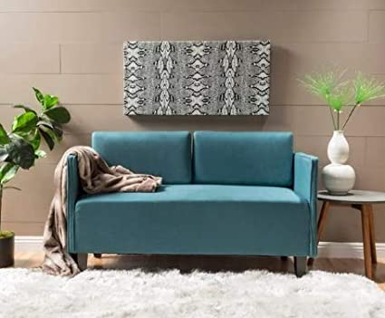 Fabulous Amazon Com Loveseats For Small Spaces Sofa Dark Teal Andrewgaddart Wooden Chair Designs For Living Room Andrewgaddartcom