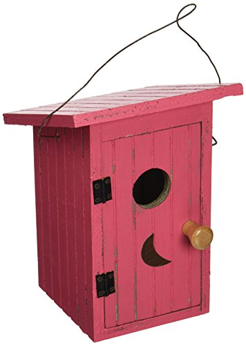 - Songbird Essentials 008114 Birdie Loo Birdhouse Red