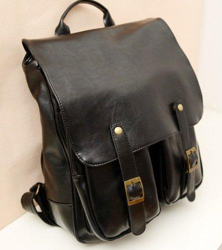 9e73b8c7a995 人気 メンズ 鞄 2way レザー リュック バック カバン バックパック BLACK 黒 旅行 男女兼用 デイ