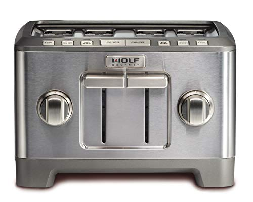 - Wolf Gourmet Wolf Gourmet 4 Slice Toaster (WGTR124S) (Stainless Steel), 12.1,