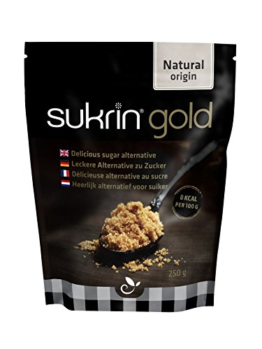 Sukrin Gold - All Natural Brown Sugar Alternative - 250g Bag (1-Pack) Sugar Sweetener