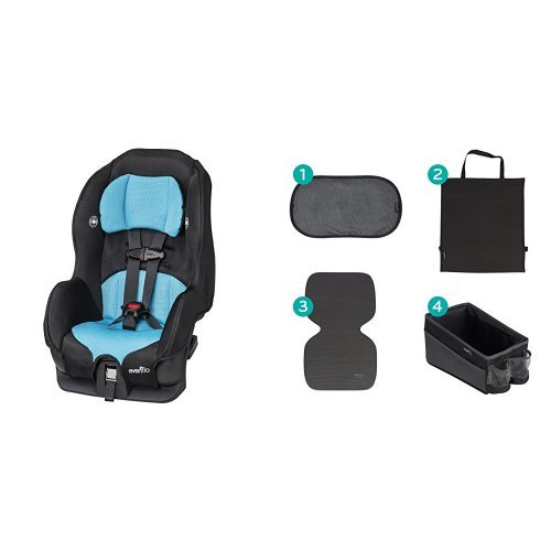 Evenflo Tribute LX Convertible Car Seat – Neptune with Car Seat Accessory Kit