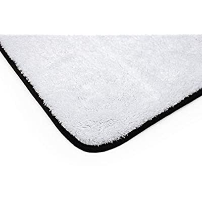 The Rag Company (3-Pack) 16 in. x 16 in. Everest 1100 White Ultra-Plush Korean 70/30 Professional Microfiber Detailing Towels: Automotive