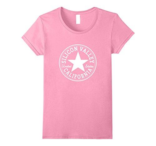 Womens Silicon Valley tshirt San Francisco California USA T-Shirt Small Pink