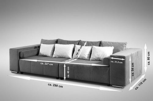 Modernes Schlafsofa Sofa Couch Big Sofa in braun Schlaffunktion ...