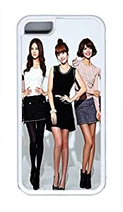 5C Case, iPhone 5C Case Galaxy Pattern Girls Generation 18 Cute iPhone 5C Shoockproof White Soft Case Full Body Hybrid Impact Armor Defender Cover protective Case for iPhone 5C
