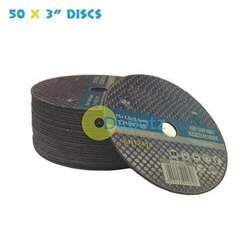 Dapetz /® Pack Of 50 X 3 Inch 75mm Cut Off Discs For Stainless Steeln Air Cut off Tool Ultra Thin