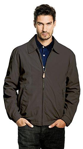 London Fog Men's Auburn Zip-Front Golf Jacket (Regular & Big-Tall Sizes), titanium, Medium
