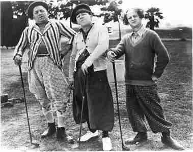 Photo of the Three Stooges Playing Golf Posing (Golf Stooges Three Picture)