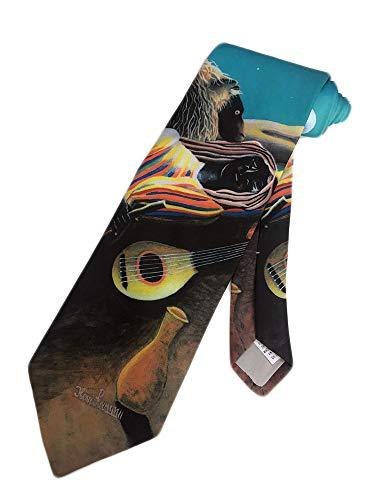 Ralph Marlin Mens Henri Rousseau Sleeping Gypsy Necktie - Black - One Size Neck - Mens Ralph Marlin Necktie