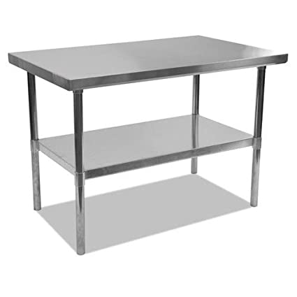 Alera ALEXS4830 Stainless Steel Table, 48 X 30 X 35, Silver