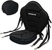 WOOWAVE Kayak Seat Padded Deluxe Canoe Seat Adjustable Boat Seat Cushioned Fishing Seat High Back Comfortable