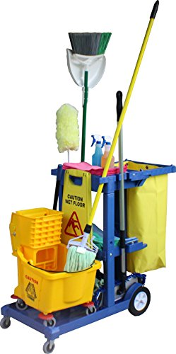 Janitor Cart - Blue by Direct Mop Sales
