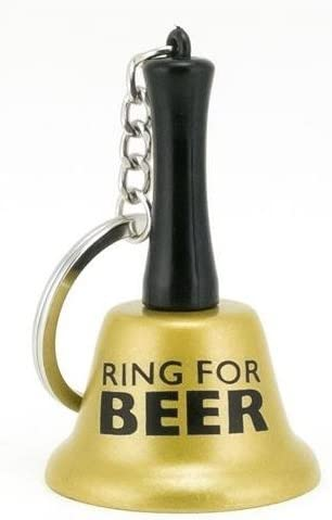 About Face Designs Ring for Beer Keychain Bell