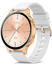"""Smartwatch voor Dames Heren, 1.3 """"Touchscreen Slimme Horloge, IP68 Waterdicht Sporthorloges met Hartslagmeter, Slaapmonitor, Stappenteller, Fitnesstrackerhorloge voor Android/iOS"""