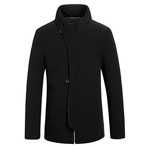 men's 190 padded HHY cotton down Winter color slim collar leisure black x4On0xZ