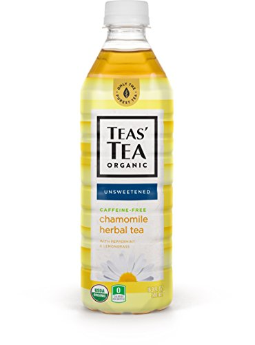 Teas' Tea Unsweetened Herbal Chamomile Tea, 16.9 Ounce (Pack of 12), Zero Calories, No Sugars, No Artificial Sweeteners, Antioxidant Rich, Caffeine (Chamomile Caffeine Free Tea)