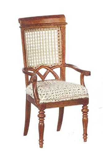 Melody Jane Dollhouse Berger French Elbow Carver Chair JBM Wlanut Dining Room Furniture ()