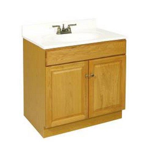 Design House 533471 Claremont Ready-To-Assemble 2 Door Vanity, Honey Oak, 30-Inch by 21-Inch - 30' Two Doors Vanity