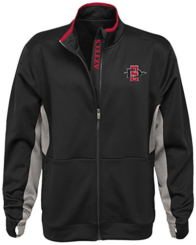 NCAA San Diego State Aztecs Men's First String Full Zip Jacket, Black, Men's XX-Large by Gen 2