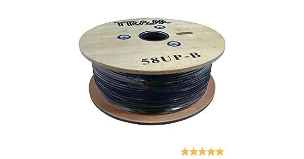 25 FT RG-8X  TRAM  TRAMFLEX 95/% SHIELD COAX CABLE CB HAM SCANNER