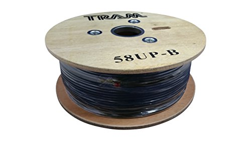 Tram 58UP B Rg58 U 95% Shielded Coax Cable for Cb / Ham / Scanner Radio 500' FOOT SPOOL