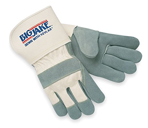 Big Jake Leather (Memphis Glove 1710XL Big Jake Cow Leather Sewn Kevlar Gloves with 4-1/2-Inch Gauntlet Cuff, Natural Pearl, X-Large, 1-Pair)