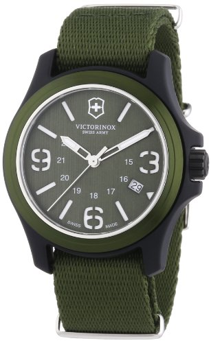 Victorinox Swiss Army Men's 241514 Original Green Dial and Strap Watch Watch