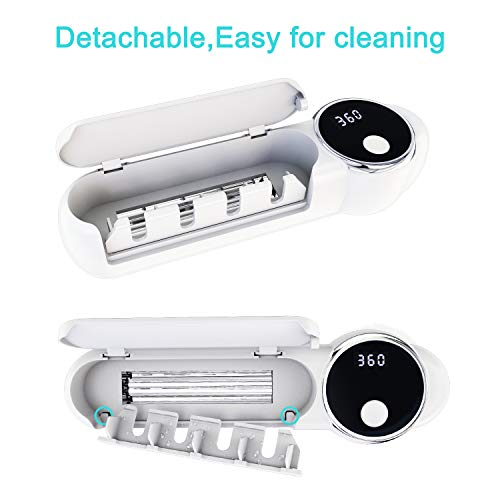 Toothbrush Sanitizer, Toothbrush Holder Wall Mounted with Sterilizer Function, Electric Toothbrush Organizer for Bathroom(White)