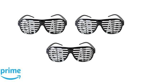 Black//White Beistle 60060 3Piece Grad Shutter Glasses