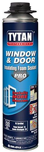 TYTAN Professional 00793 Off White Window and Door PRO Insulating Foam Sealant, 24 oz. Gun Aerosol Can (Pack of 12)