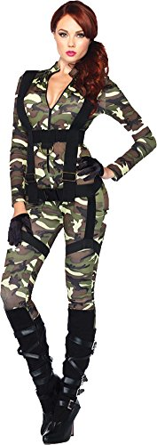 [Pretty Paratrooper Costume - Large - Dress Size 12-14] (Adult Pretty Paratrooper Costumes)