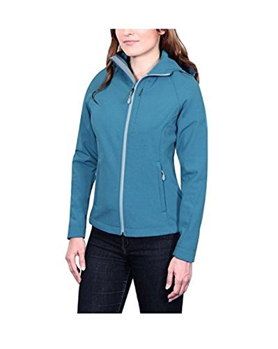Kirkland Signature Ladies' Softshell Jacket (Medium, Teal) by Kirkland Signature