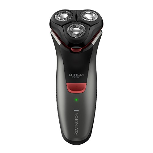 Remington R4000 Series Electric Rotary Shaver, Fully Washable, Black/Red, PR1340 (Certified Refurbished) by Remington