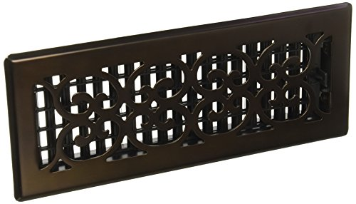 Decor Grates SPH412-RB Scroll Plated Register, 4-Inch by 12-Inch, Rubbed Bronze ()